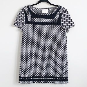 9-H15 STCL Anthropologie Houndstooth Dress